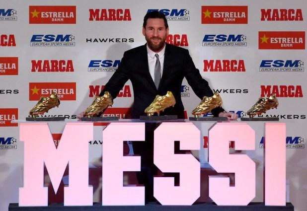 Messi Wins Fifth Golden Shoe Award