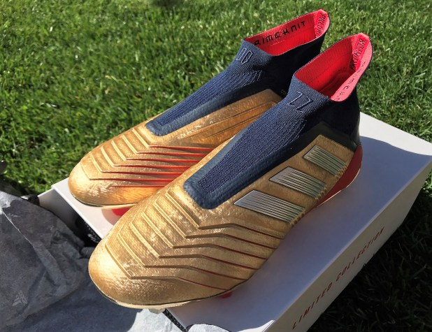 adidas Predator19+ Gold Up Close