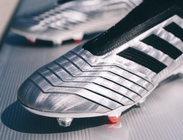 Silver adidas Predator 19+ Upper
