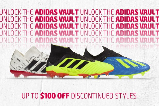 adidas Vault $100 off discontinued styles