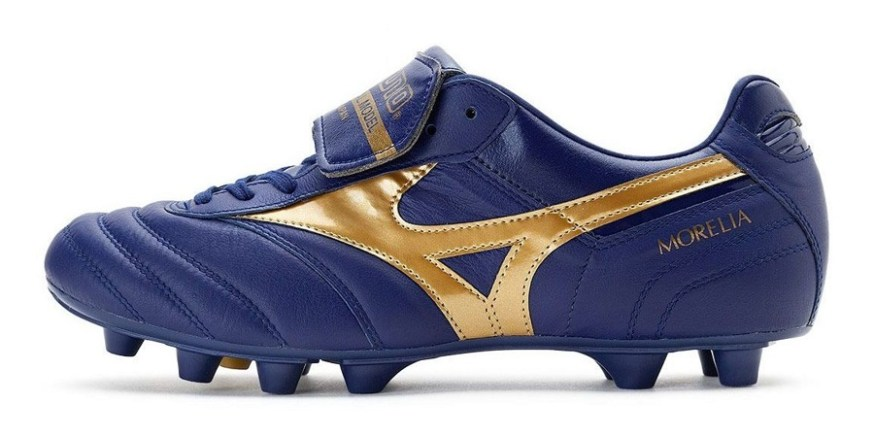 timeless design 6f3d6 1ba15 Mizuno Morelia II MIJ in Navy Gold Released