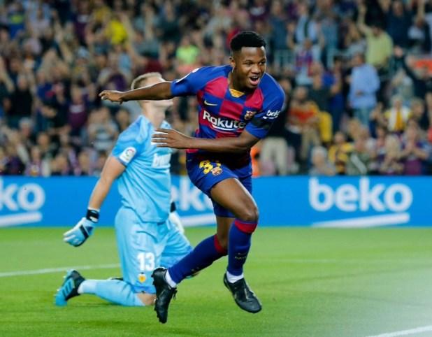 Ansu Fati Goal at 16
