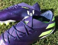 Messi adidas Nemeziz 19.1 Chameleon Indigo Fit and Collar