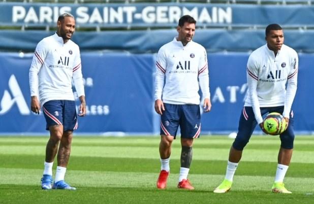 PSG Mbappe Neymar and Messi