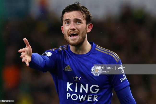 NORWICH, UNITED KINGDOM - 2020/02/28: Ben Chilwell of Leicester City reacts during the Premier League match between Norwich City and Leicester City at Carrow Road. Final Score; Norwich City 1:0 Leicester City. (Photo by Richard Calver/SOPA Images/LightRocket via Getty Images)
