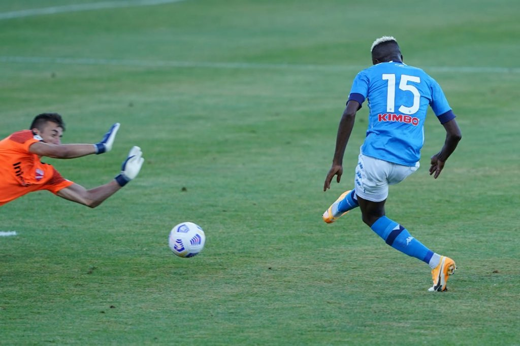 Osimhen bags second hatrick in his second game for Napoli