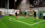 Soccer tennis to help practice your touch and provide students with a friendly activity.