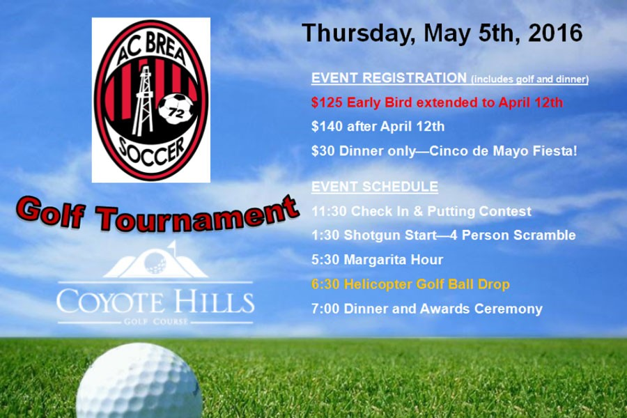 Registration Still Open For Inaugural AC Brea Golf Event