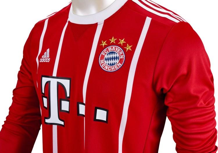 2017/18 adidas Bayern Munich L/S Home Jersey