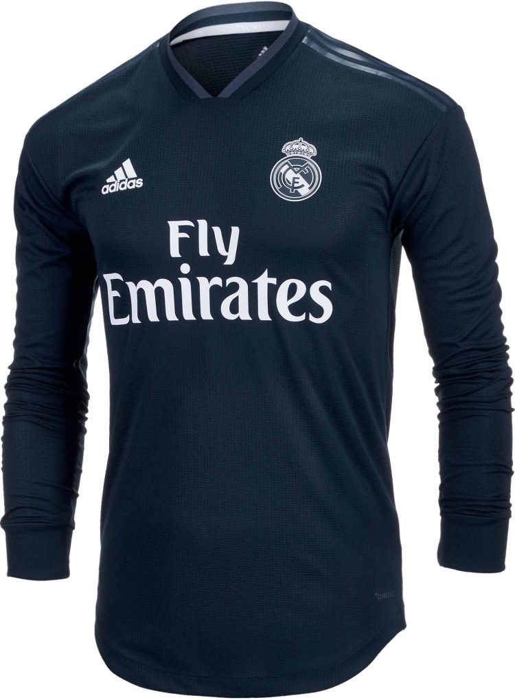 2018/19 adidas Toni Kroos Real Madrid Authentic L/S Away ...