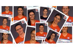 Voetbalplaatjes Oranjevrouwen