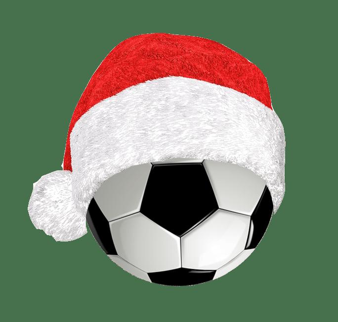 voetbal kerstmuts