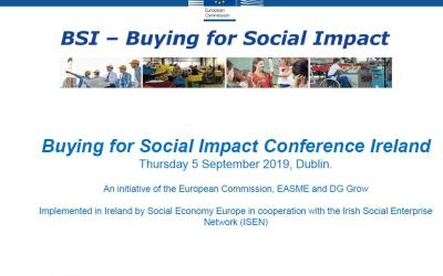 Buying for Social Impact for Procurers: 5th September 2019