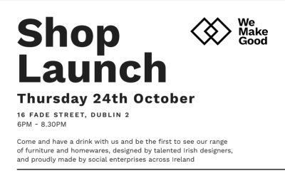 Come along to the launch of We Make Good 24th October