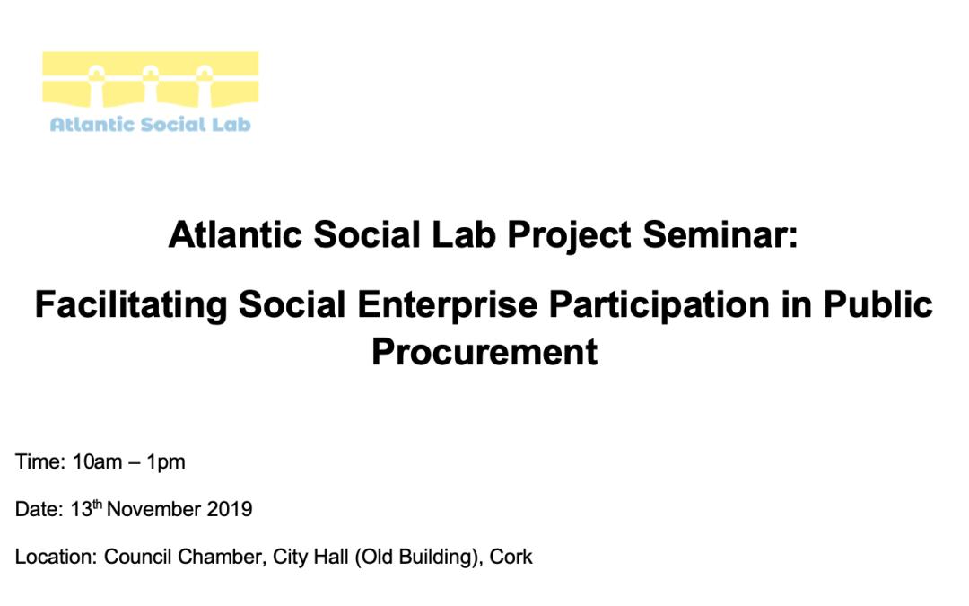 Public Procurement and Social Enterprises 13th Nov Cork