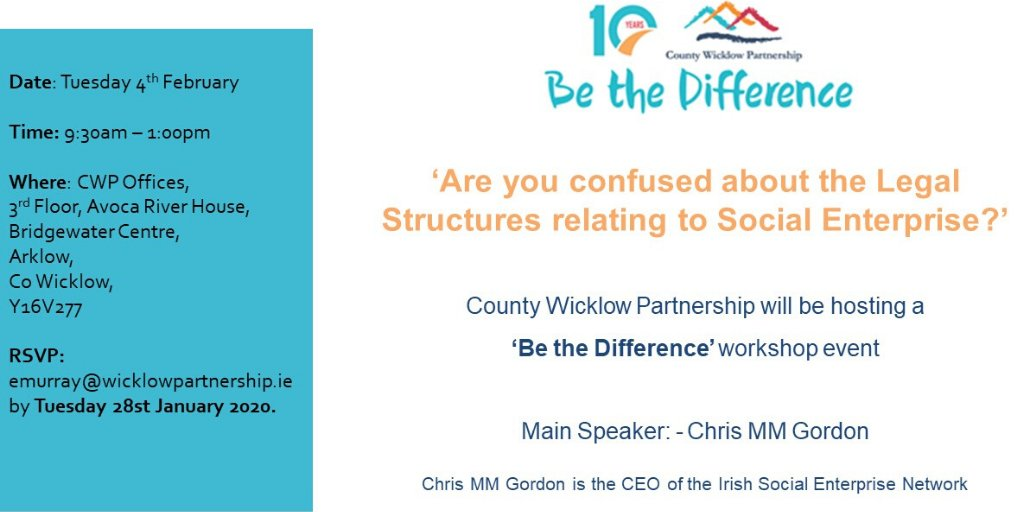 Be the Difference – Social Enterprise Legal Types Conference