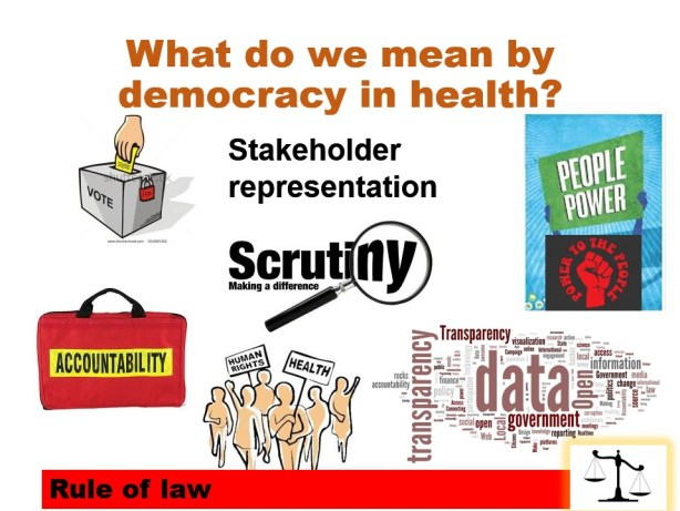 What do we mean by democracy in health?