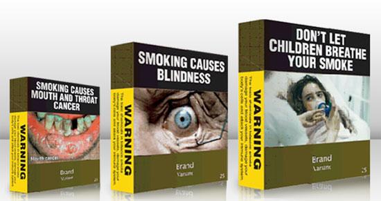 Proposed Australian plain cigarette packs