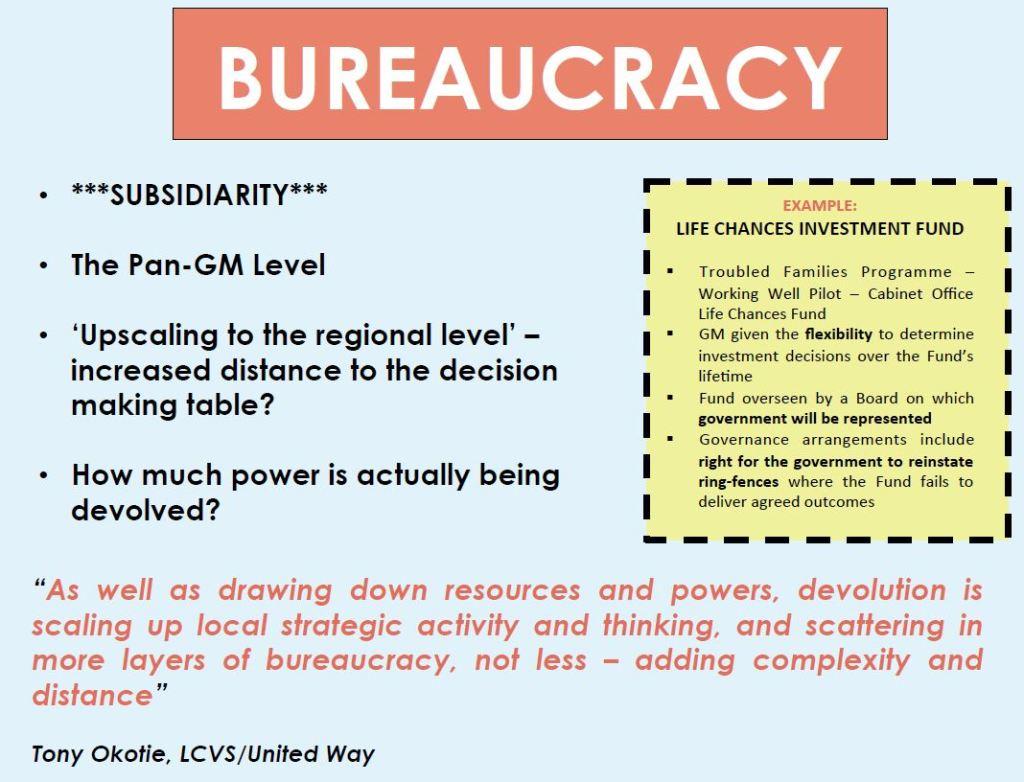 Bureaucracy and devolution