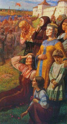 проводы русских воинов на Куликовскую битву