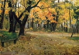 Осень в Абрамцевском парке на картине Остроухова
