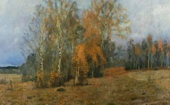 октябрь на картине Левитана