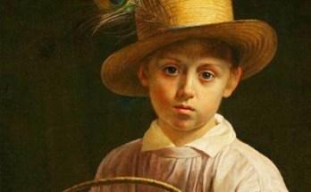 портрет крестьянского мальчика в соломенной шляпе на картине Хруцкого