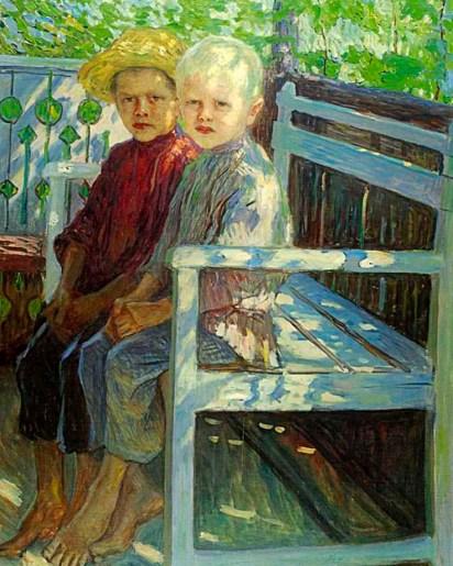 крестьянские дети на картине Богданова-Бельского