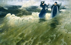 какой простор среди морских волн на картине Репина