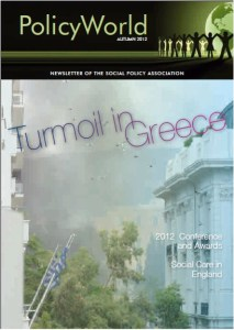 Policy World Autumn 2012