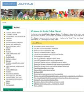 Social Policy Digest