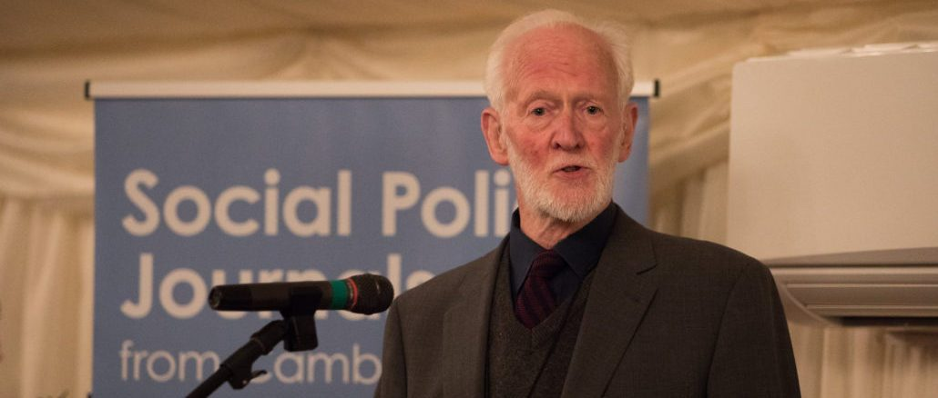 Adrian Sinfield speaks about the history of the Social Policy Association at the organisation's 50th anniversary celebration at the House of Lords in October 2017.