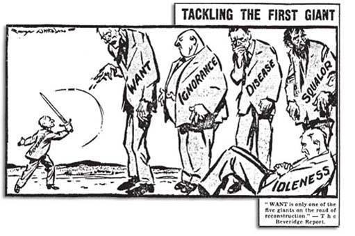 William Beveridge slaying the Five Giants