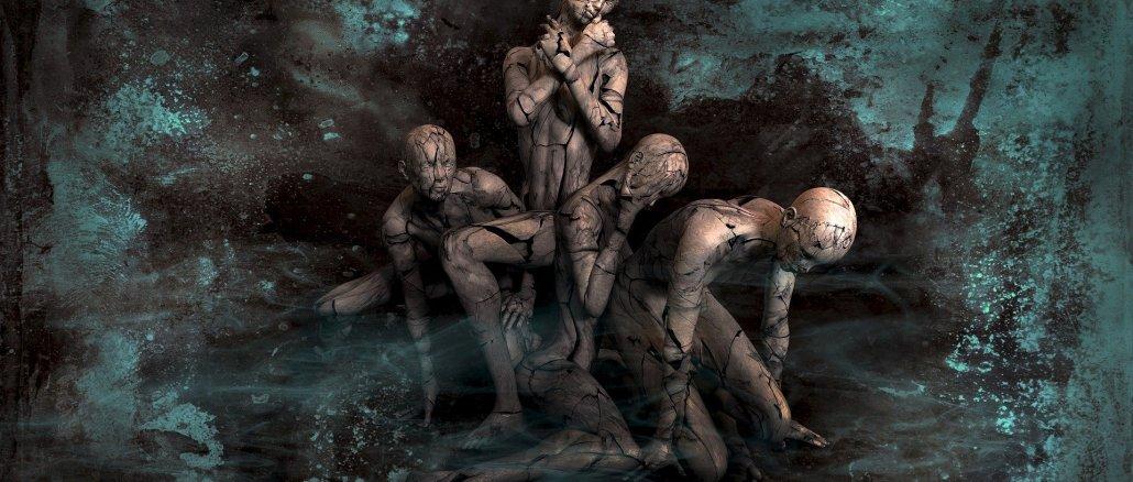 artistic interpretation of 4 human bodies in different poses