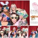 Andrea's 40th birthday party photo booth at Hooters, Nottingham