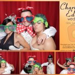 Charlie and Eddie's wedding reception photo booth