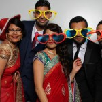 Karan & Heena wedding reception photo booth