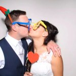 Lindsey & Shaun's wedding reception photo booth