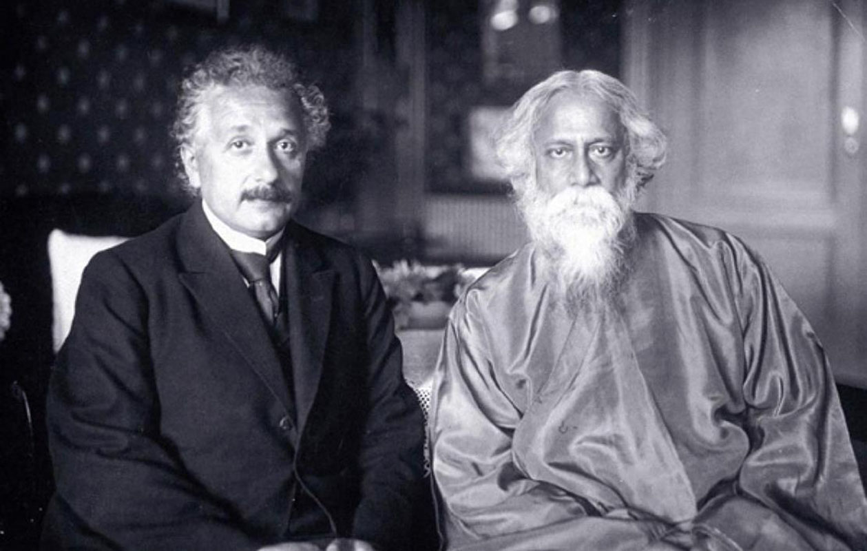 albert einstein  like einstein tagore believed in education as a creative force he founded his own school shantineketan that emphasized music drama and other arts