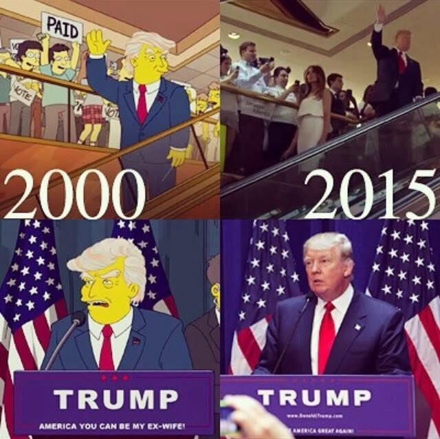 """The Simpsons"" : Trump Presidency is Not a Joke Anymore"