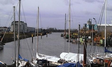 Wunderschöner Blick in den Hohentorshafen