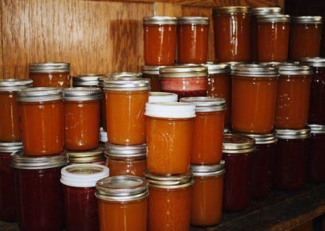 marmalade, jam jars