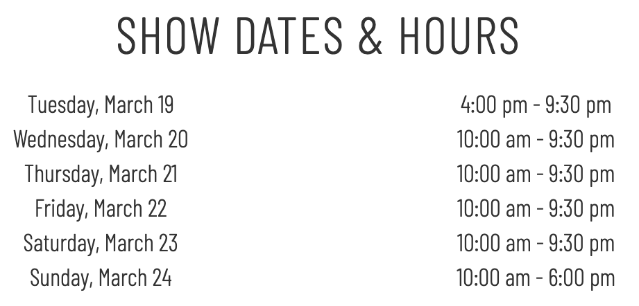 Vancouver Auto Show hours, opening hours, conference centre.