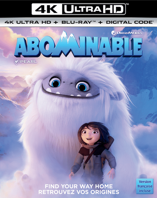abominable movie, 4k ultra hd, dreamworks movies, gift ideas, parenting blog, contest canada,