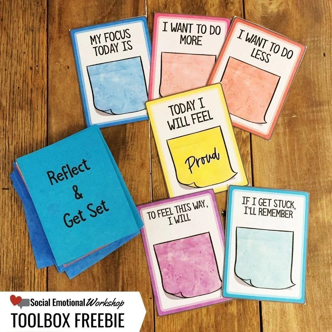 Reflect and Get Set Toolbox Freebie