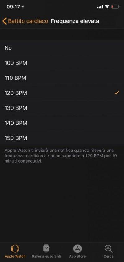 apple watch- elevata frequenza cardiaca-1