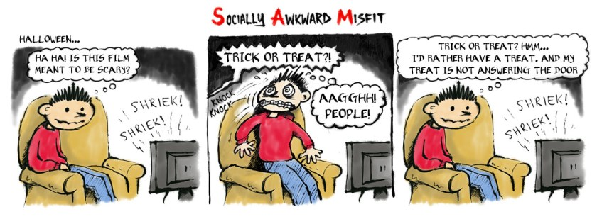 halloween anxiety cartoon comic