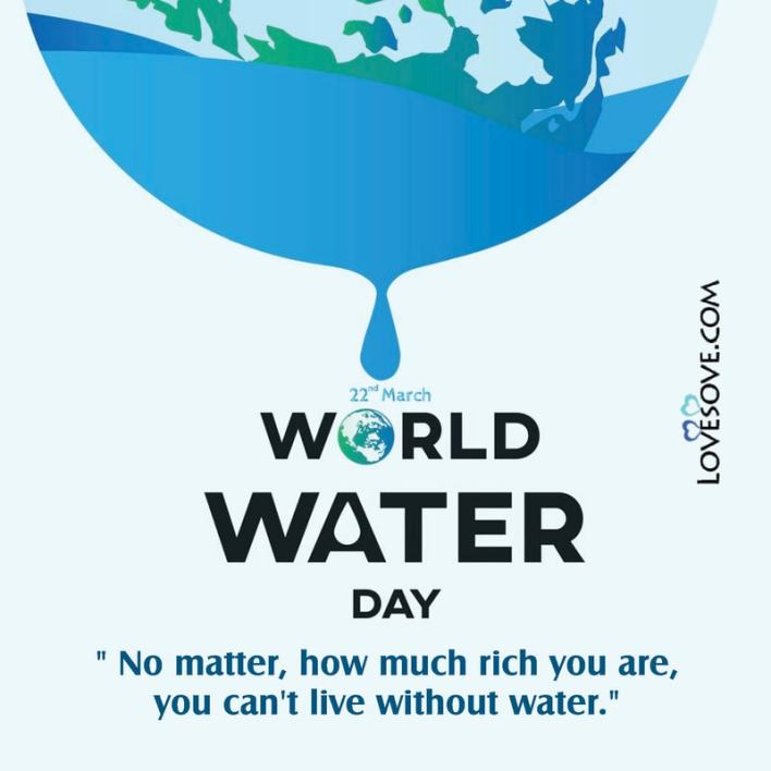 Happy World Water Day 22 march Lovesove - scoailly keeda