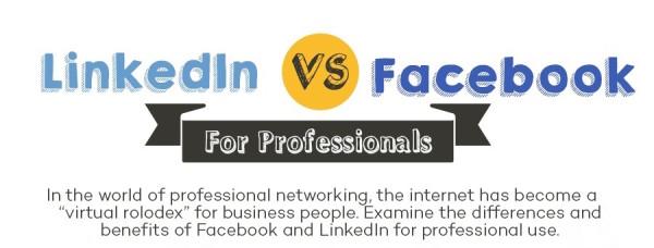 Linkedin vs Facebook per le attività professionali – infografica