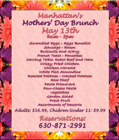 C Restaurant Mothers Day Lunch Menu